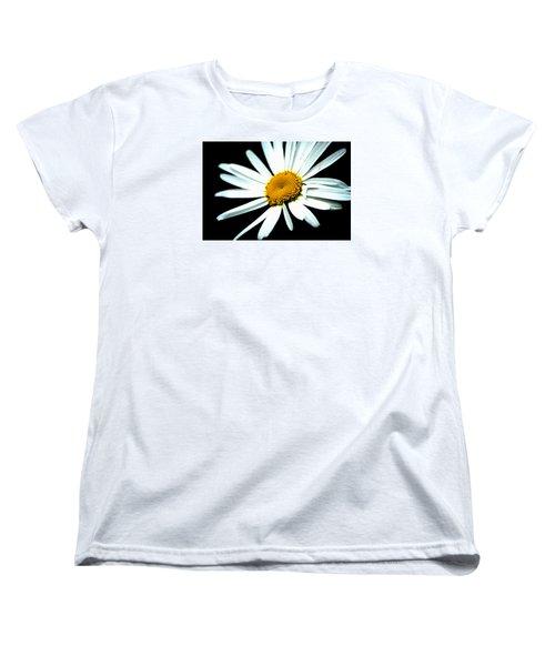 Women's T-Shirt (Standard Cut) featuring the photograph Daisy Flower - White Sun by Alexander Senin