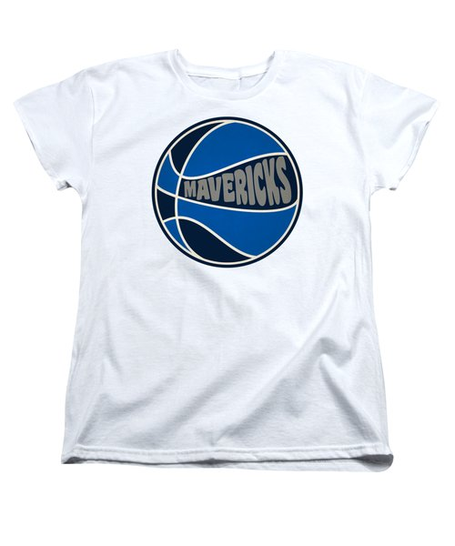 Women's T-Shirt (Standard Cut) featuring the photograph Dallas Mavericks Retro Shirt by Joe Hamilton