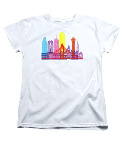 Dallas Skyline Pop Women's T-Shirt (Standard Cut) by Pablo Romero