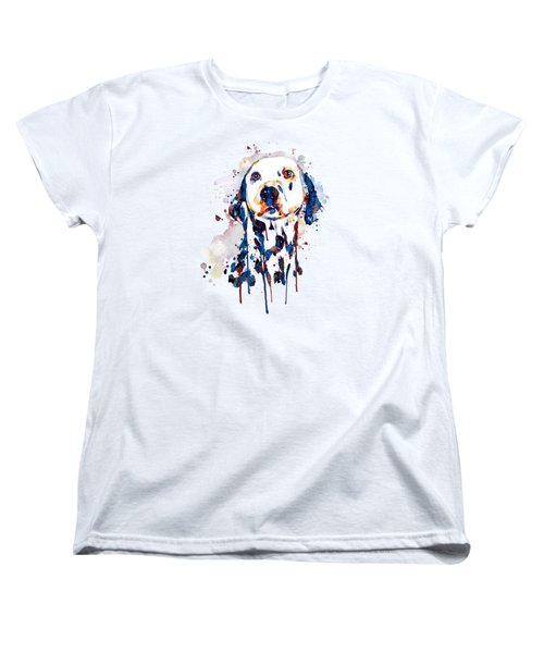 Dalmatian Head Women's T-Shirt (Standard Cut) by Marian Voicu
