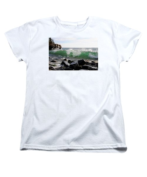 Dancing Waves Women's T-Shirt (Standard Cut) by Sandra Updyke