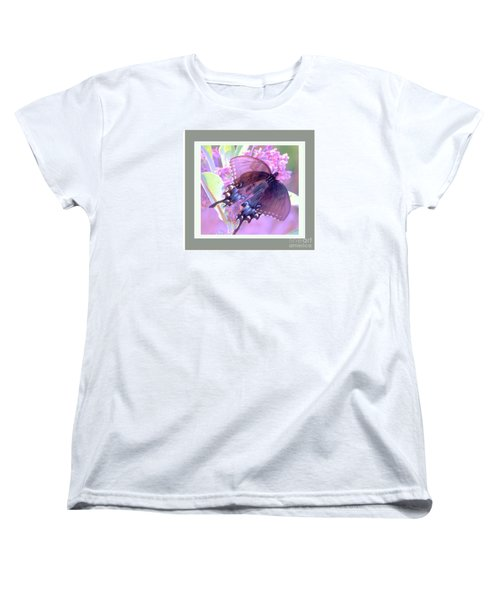 Dark Butterfly Women's T-Shirt (Standard Cut) by Shirley Moravec
