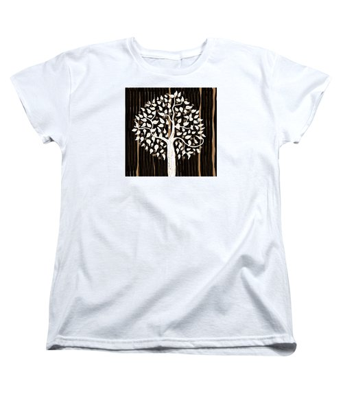 Women's T-Shirt (Standard Cut) featuring the painting Dark Winter by Patricia Arroyo