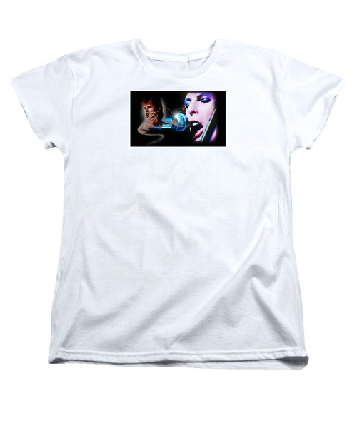 David Bowie  - Jean Genie Women's T-Shirt (Standard Cut) by Glenn Feron