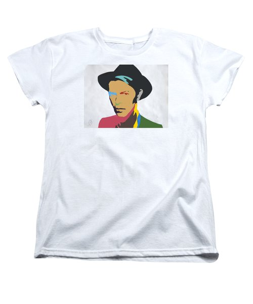 David Bowie Women's T-Shirt (Standard Cut) by Stormm Bradshaw
