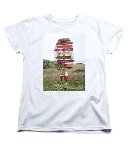 Women's T-Shirt (Standard Cut) featuring the photograph Daytona Crossroads by Dodie Ulery