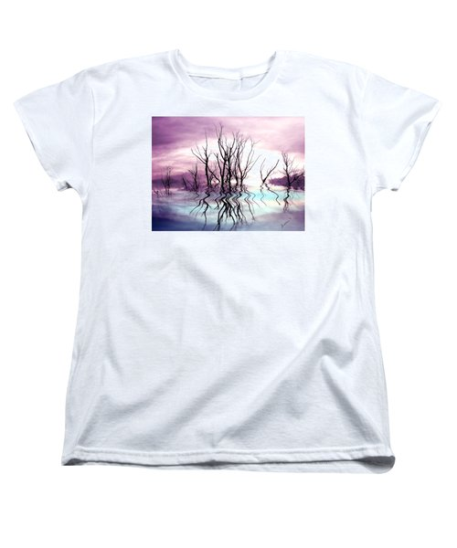 Women's T-Shirt (Standard Cut) featuring the photograph Dead Trees Colored Version by Susan Kinney
