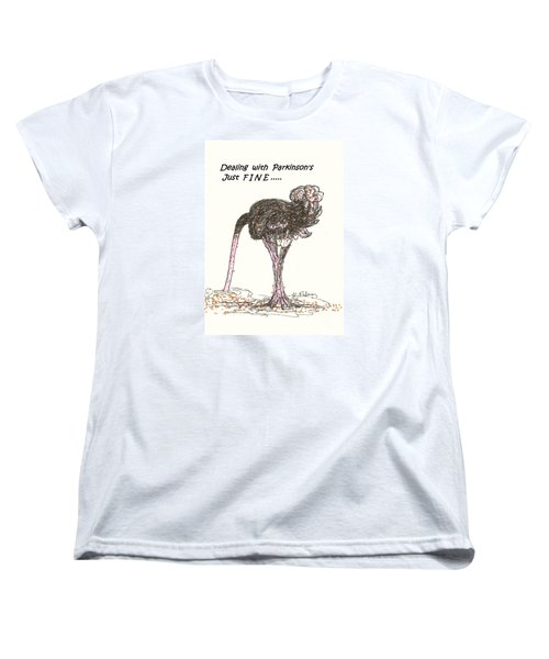 Women's T-Shirt (Standard Cut) featuring the drawing Dealing Just Fine by Denise Fulmer