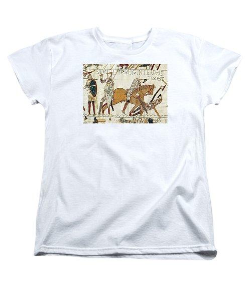 Death Of Harold, Bayeux Tapestry Women's T-Shirt (Standard Cut)