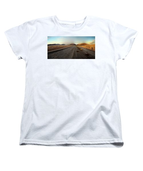 Death Valley Hitch Hiker Women's T-Shirt (Standard Cut) by Gary Warnimont