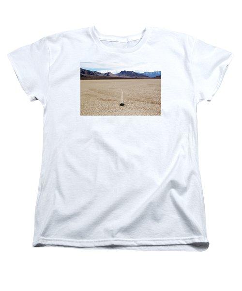 Death Valley Racetrack Women's T-Shirt (Standard Cut) by Breck Bartholomew