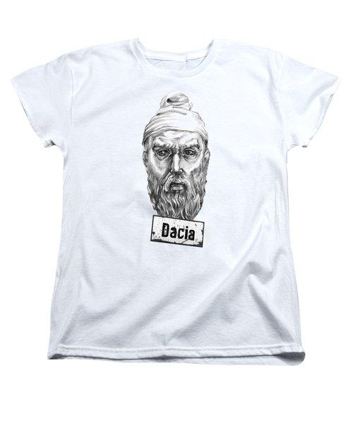 Decebal Women's T-Shirt (Standard Cut) by Marius Sipa