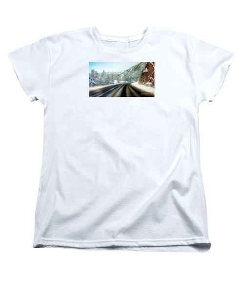 December Drive 4 Women's T-Shirt (Standard Cut) by Janie Johnson