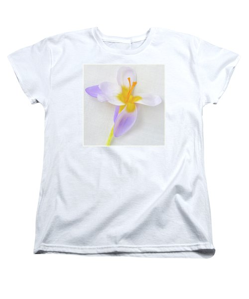 Women's T-Shirt (Standard Cut) featuring the photograph Delicate Art Of Crocus by Terence Davis