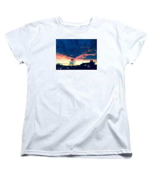 Dense Sunset Women's T-Shirt (Standard Cut) by Angela Annas