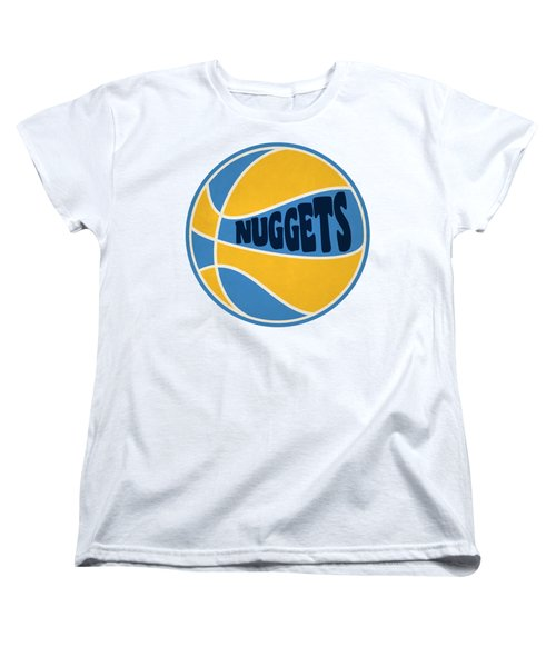 Women's T-Shirt (Standard Cut) featuring the photograph Denver Nuggets Retro Shirt by Joe Hamilton