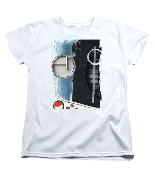 Women's T-Shirt (Standard Cut) featuring the painting Depth Onto Space by Michal Mitak Mahgerefteh