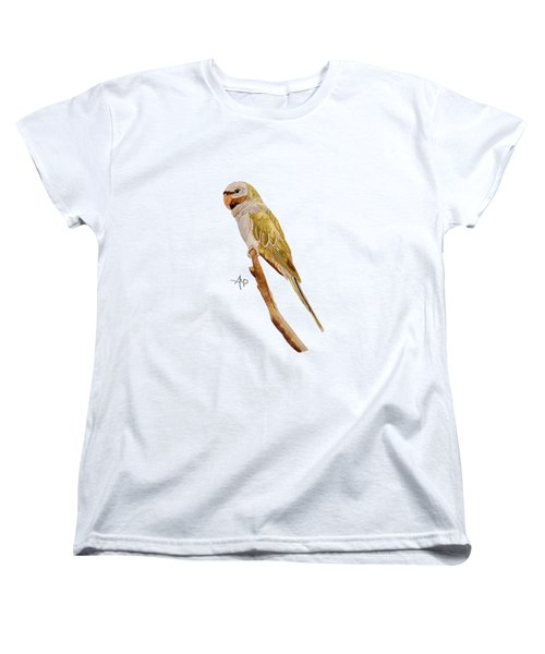 Derbyan Parakeet Women's T-Shirt (Standard Cut) by Angeles M Pomata