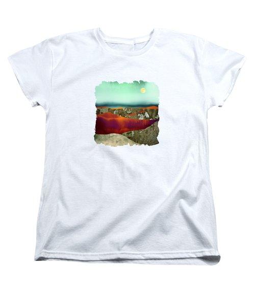 Desert Moon Women's T-Shirt (Standard Cut) by Katherine Smit
