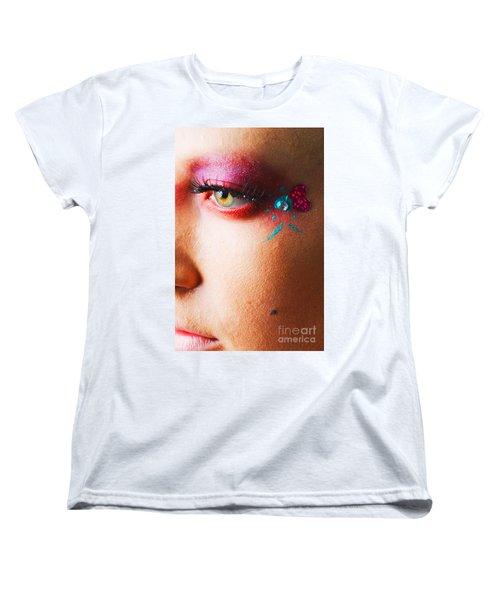 Diamond With Pink Women's T-Shirt (Standard Cut) by Robert WK Clark