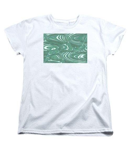 Digital Abstract Women's T-Shirt (Standard Cut) by Marsha Heiken