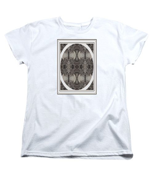 Digitized Ballpoint Image Twenty One Women's T-Shirt (Standard Cut) by Jack Dillhunt