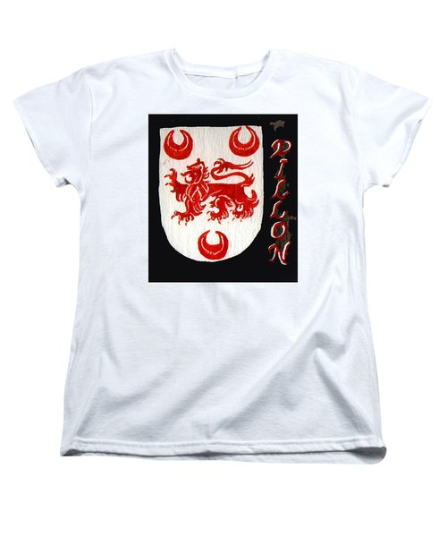 Women's T-Shirt (Standard Cut) featuring the painting Dillon Family Shield by Barbara McDevitt