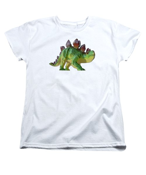 Dino Stegosaurus Women's T-Shirt (Standard Cut) by Miroslav Nemecek