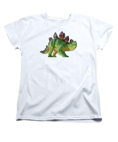 Dino Stegosaurus Women's T-Shirt (Standard Cut)