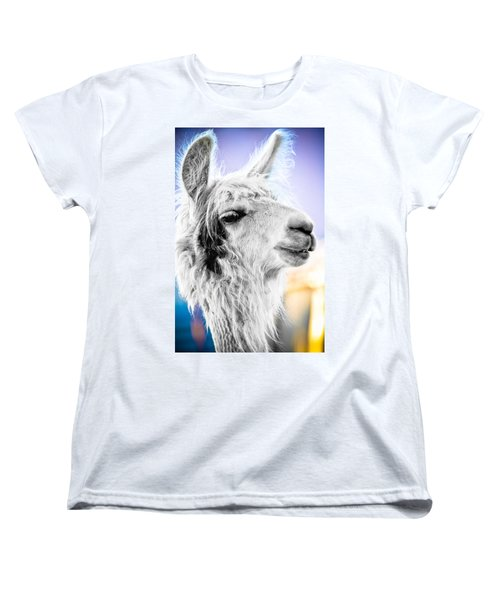 Women's T-Shirt (Standard Cut) featuring the photograph Dirtbag Llama by TC Morgan