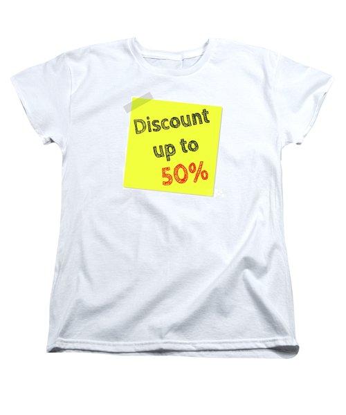 Discount Funny T-shirt Women's T-Shirt (Standard Cut) by Esoterica Art Agency