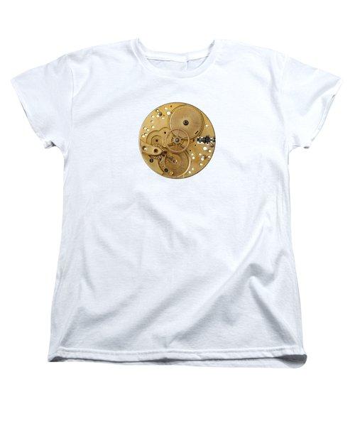 Dismantled Clockwork Mechanism Women's T-Shirt (Standard Cut) by Michal Boubin