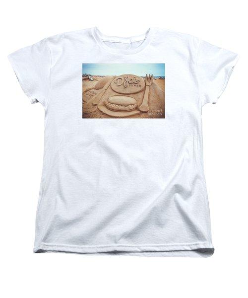 Women's T-Shirt (Standard Cut) featuring the photograph D'jais Belmar Sandcastle by Colleen Kammerer