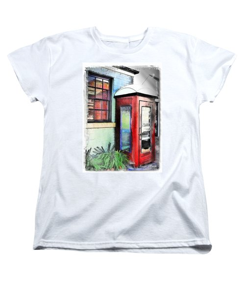 Do-00091 Telephone Booth In Morpeth Women's T-Shirt (Standard Cut) by Digital Oil