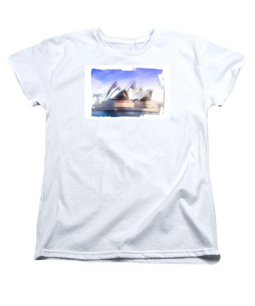 Women's T-Shirt (Standard Cut) featuring the photograph Do-00109 Opera House by Digital Oil