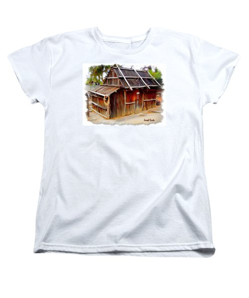 Women's T-Shirt (Standard Cut) featuring the photograph Do-00129 Old Cottage by Digital Oil
