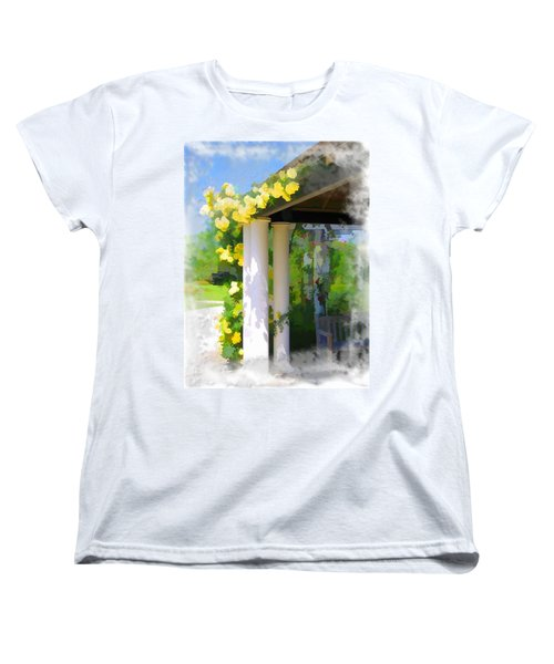Women's T-Shirt (Standard Cut) featuring the photograph Do-00137 Yellow Roses by Digital Oil