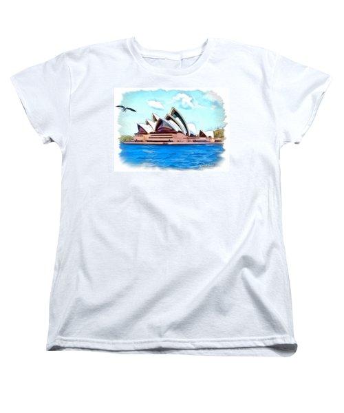 Women's T-Shirt (Standard Cut) featuring the photograph Do-00293 Sydney Opera House by Digital Oil