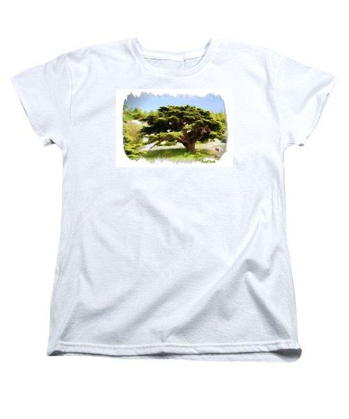 Women's T-Shirt (Standard Cut) featuring the photograph Do-00319 Cedar Tree by Digital Oil