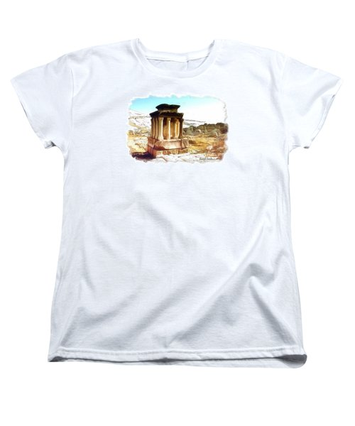 Women's T-Shirt (Standard Cut) featuring the photograph Do-00432 The Temple Of Faqra by Digital Oil