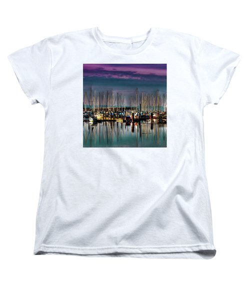 Docked Sailboats Women's T-Shirt (Standard Cut) by David Patterson