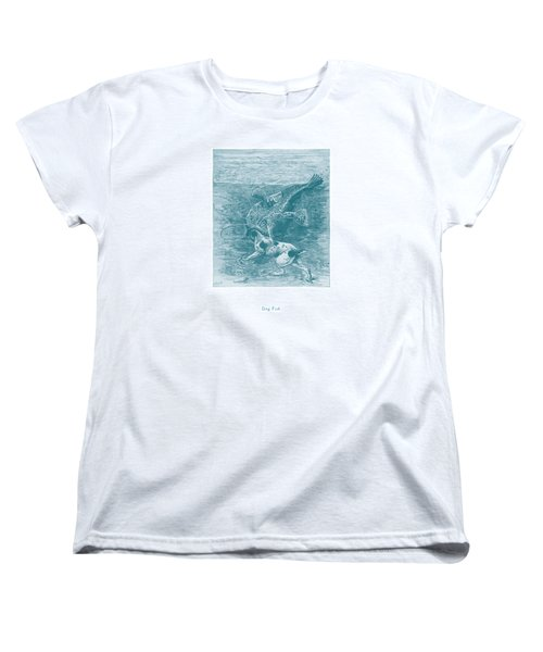 Dog Fish Women's T-Shirt (Standard Cut) by David Davies
