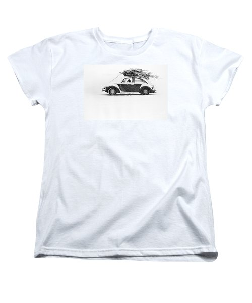 Dog In Car  Women's T-Shirt (Standard Cut) by Ulrike Welsch and Photo Researchers