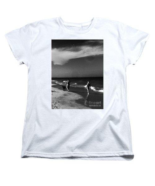 Dog Walk Women's T-Shirt (Standard Cut) by WaLdEmAr BoRrErO