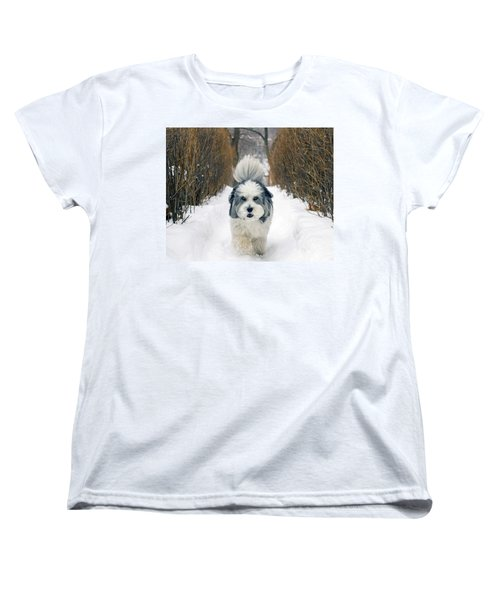 Doing The Dog Walk Women's T-Shirt (Standard Cut) by Keith Armstrong