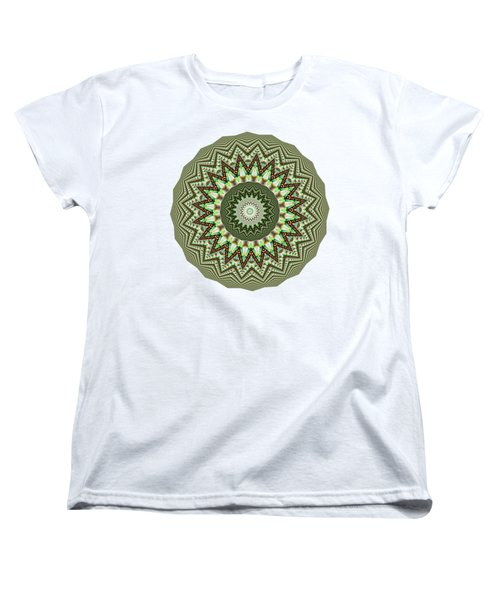 Dome Of Chains Mandala By Kaye Menner Women's T-Shirt (Standard Cut) by Kaye Menner