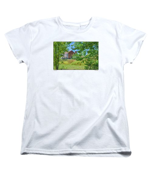 Women's T-Shirt (Standard Cut) featuring the photograph Donkey Barn by R Thomas Berner