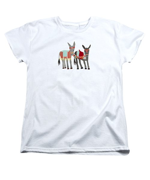 Donkeys Women's T-Shirt (Standard Cut) by Isoebl Barber