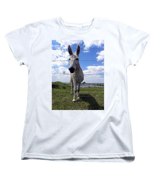 Women's T-Shirt (Standard Cut) featuring the photograph Don't Fence Me In 000  by Chris Mercer