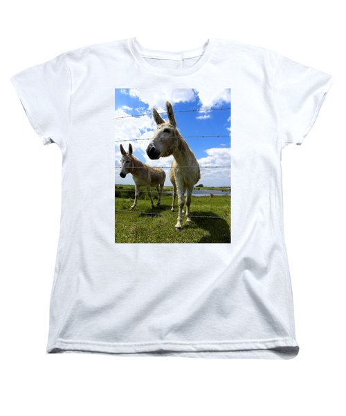 Women's T-Shirt (Standard Cut) featuring the photograph Don't Fence Me In 001 by Chris Mercer